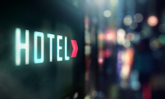 ホテルの看板