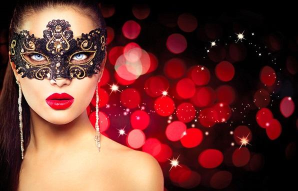 アイマスクをしてる女