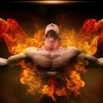燃え上がる男の胸