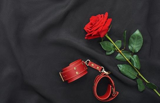 赤い手枷と真っ赤な薔薇