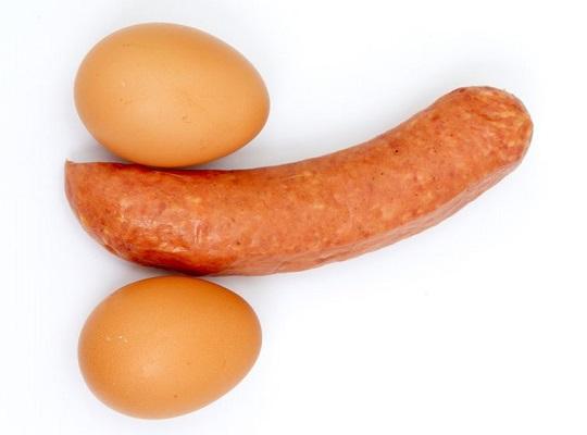ウィンナーと卵